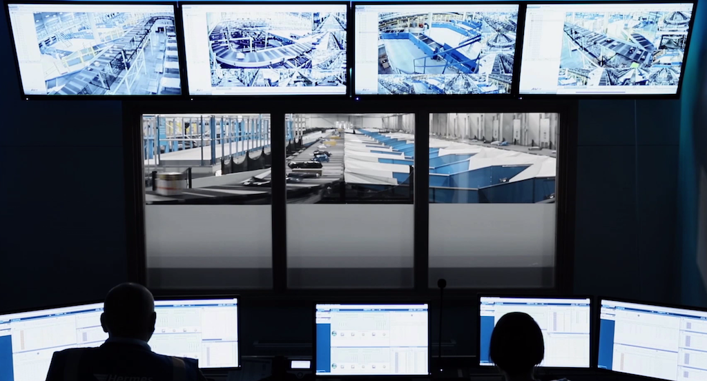 Image of a control room at a distribution hub