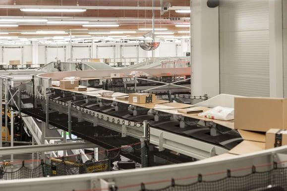 Photo of optimised parcel sortation