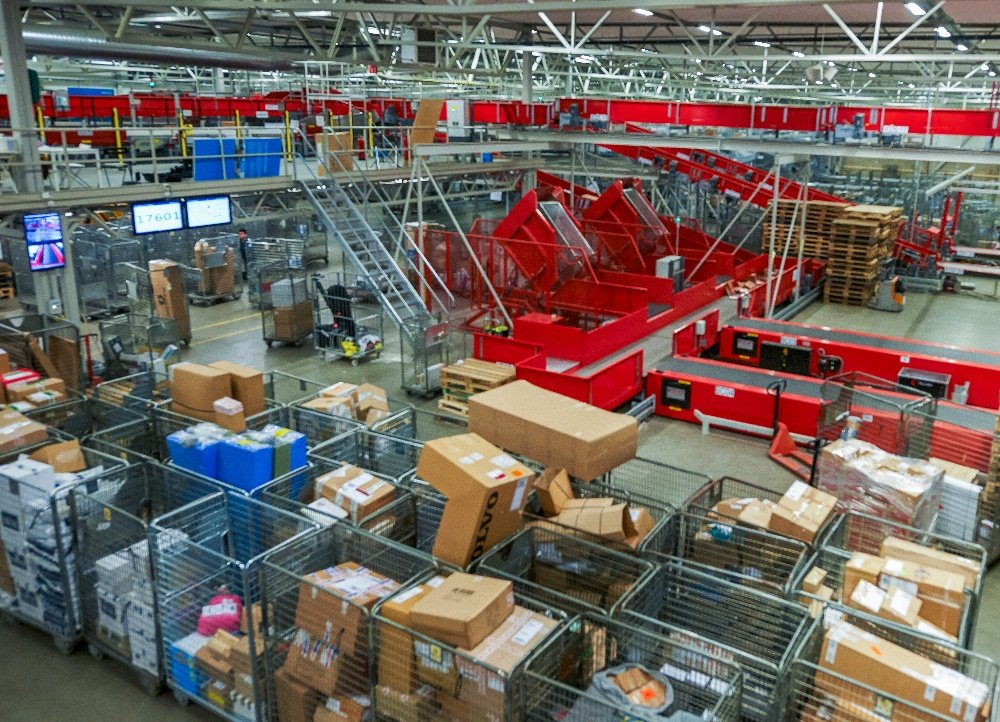 Overview image of a busy distribution centre